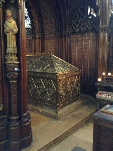 The former stone reliquary of St. Genevieve